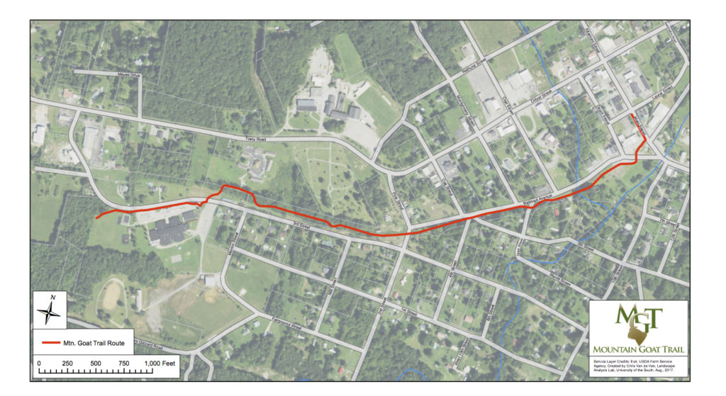 Tracy City releases map of Mountain Goat Trail project Mountain